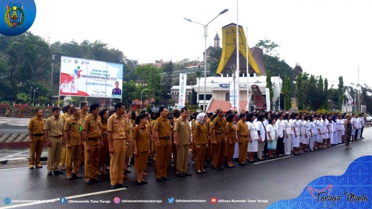 Upacara Peringatan Hari Kesehatan Nasional Ke-55 Kab. Tana Toraja