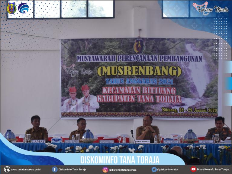 Daya Saing Pariwisata Menjadi Prioritas Utama dalam Musrenbang Kecamatan Bittuang