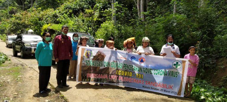 Sinergitas OPD, Sosialisasi dan Penanganan Virus Corona sampai ke pelosok daerah di Makale Selatan