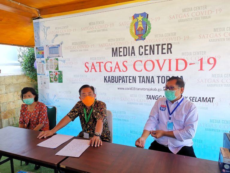 Media Center Satgas Covid-19 Tana Toraja Umumkan Wakil Bupati kasus Pertama Positif Covid-19