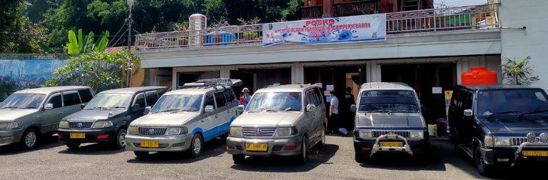 Angkutan Umum diberdayakan untuk Distribusi Logistik dari Posko Satgas Kabupaten ke Lembang – Lembang