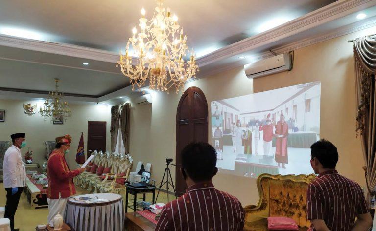 5 Pejabat Eselon II Lingkup Pemda Tana Toraja Dilantik Secara Virtual Conference