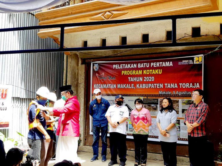 Launching Program KOTAKU ditandai Peletakan Batu Pertama oleh Bupati Tana Toraja