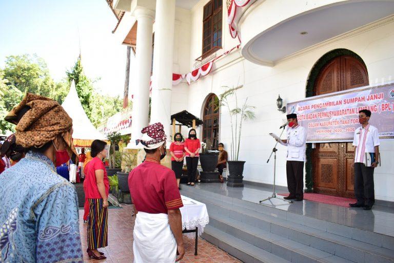 Sekretaris Daerah Lantik 35 orang Anggota BPL periode 2020-2026 di Tana Toraja