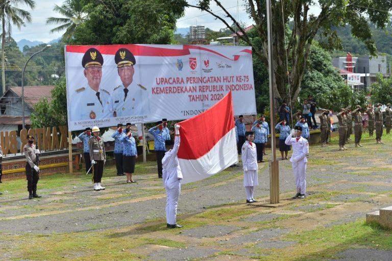 Upacara HUT RI ke-75 Kabupaten Tana Toraja tetap menerapkan Protokol Kesehatan dan secara Virtual