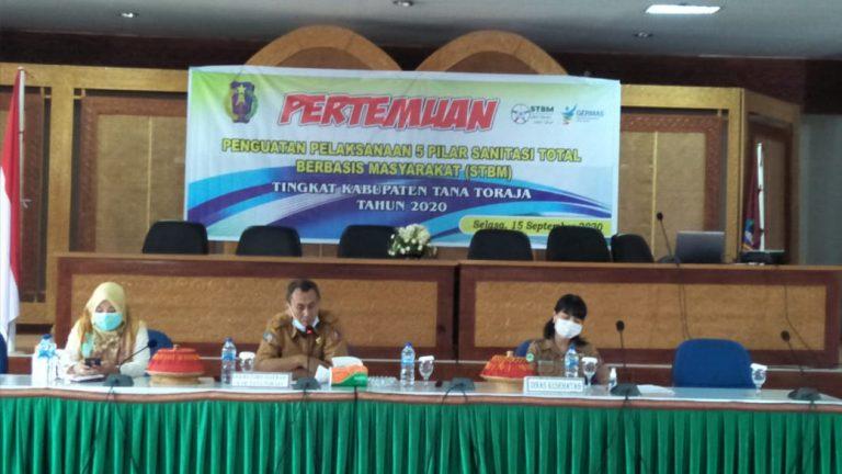 Dinkes Tana Toraja Gelar Pertemuan Penguatan Pelaksanaan 5 Pilar Sanitasi Total Berbasis Masyarakat