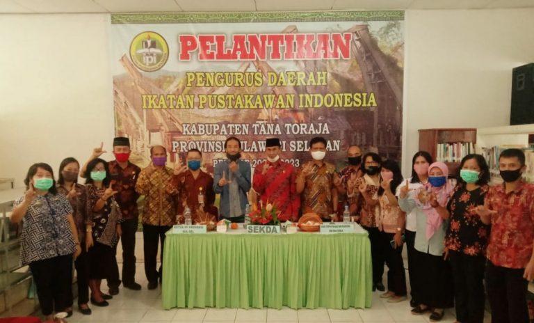 Pembentukan pengurus dan pembinaan Organisasi Ikatan Pustakawan Indonesia Cabang Tana Toraja