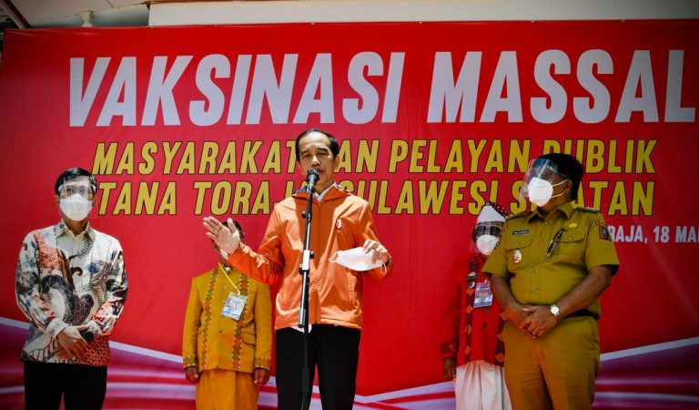 Vaksinasi Massal, Presiden Jokowi Berharap Bisa Mengurangi Laju Penyebaran Covid-19 Di Kabupaten Tana Toraja