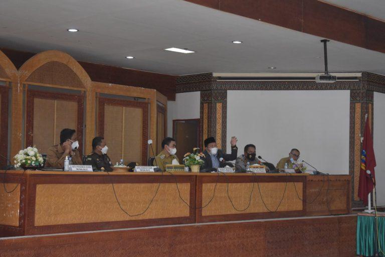 Pertemuan Forkompinda bersama Satuan Tugas Penanganan Covid-19 Kabupaten Tana Toraja