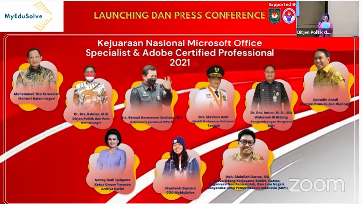 Kejuaraan Nasional Microsoft Office Spesialist dan Adobe Certified Profesional 2021