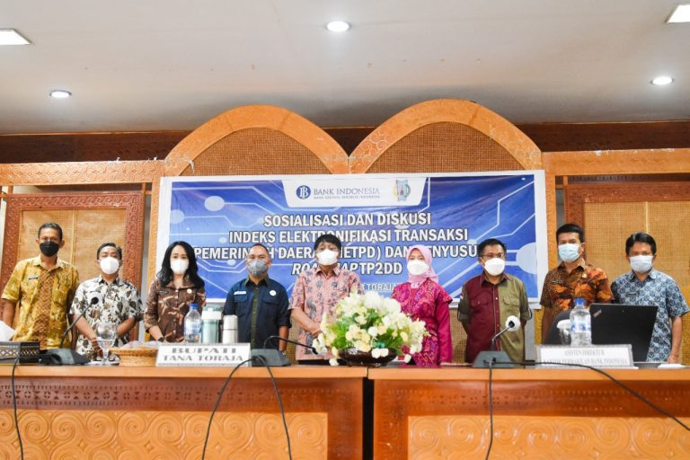 Sosialisasi Dan Diskusi Indeks Elektronifikasi Transaksi Pemerintah Daerah Dan Penyusunan Roadmap Tim Percepatan Dan Perluasan Digitalisasi Daerah