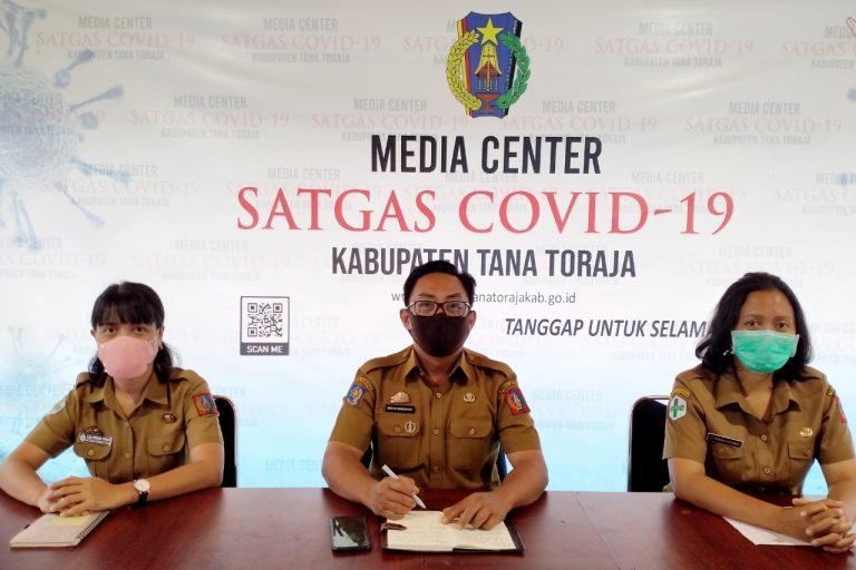 Media Center Satgas Covid-19 Tana Toraja Umumkan 5 Kasus Baru Terkonfirmasi Positif Covid-19