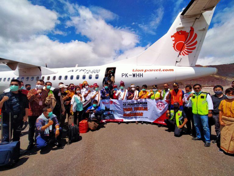 Penerbangan Komersial Perdana Wings Air ke Bandar Udara Toraja Akhirnya Terwujud
