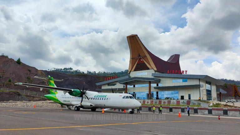 Uji Operasional Pesawat Citilink ke Bandara Toraja Berjalan Lancar