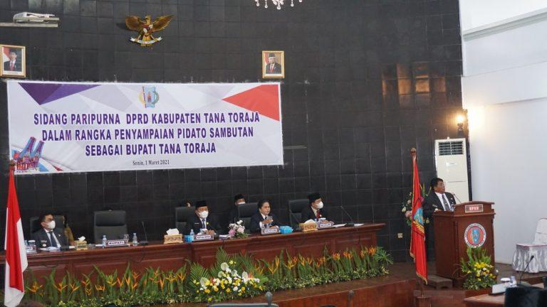 Sambutan Perdana Bupati Tana Toraja Dalam Sidang Paripurna DPRD