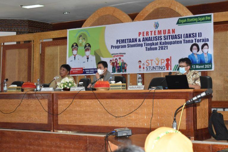 Bupati Tana Toraja Menggelar Pertemuan Program Pencegahan Stunting Tingkat Kabupaten