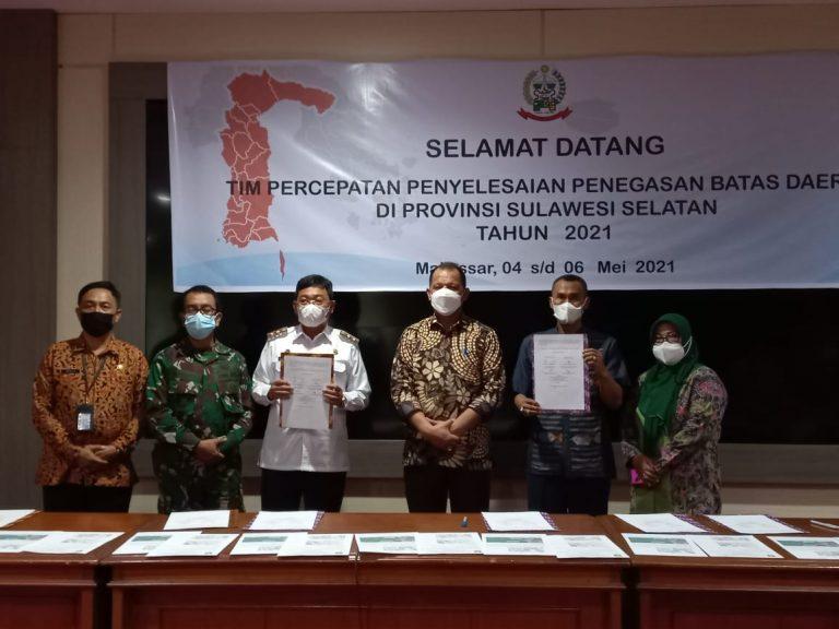 Hari ketiga, Kesepakatan Batas Daerah Tana Toraja,Torut, Enrekang dan Luwu dalam Rakor Penyelesaian Batas Daerah