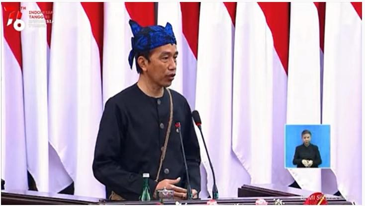 Pidato Presiden RI Joko Widodo Dalam Rangka HUT RI Ke-76
