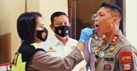 Kapolres Tana Toraja Jalani Test Narkoba