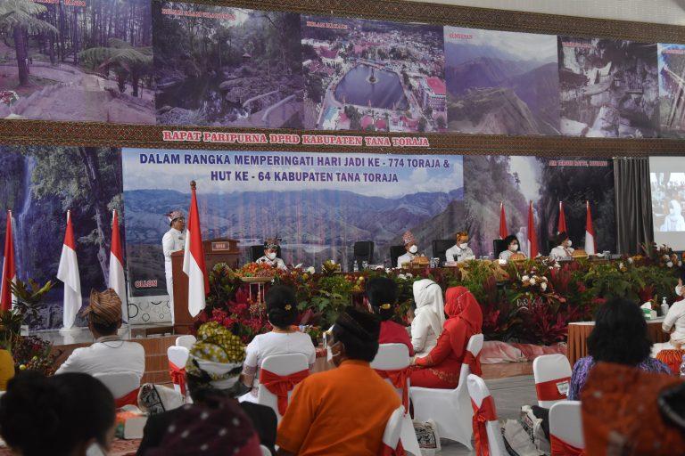 Rapat Paripurna DPRD Tana Toraja Dalam Rangka Memperingati Hari Jadi Ke-774 Toraja dan HUT Ke-64 Kabupaten Tana Toraja