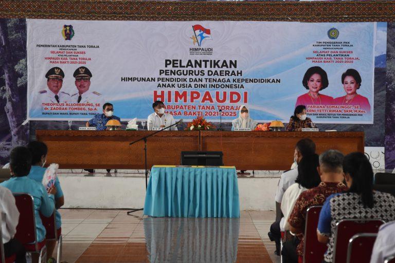 Pelantinkan Pengurus Daerah Himpunan Pendidik Dan Tenaga Kependidikan Anak Usia Dini Indonesia Kabupaten Tana Toraja